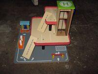 wooden garage