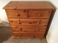 5 drawer Chest, pine effect, take for FREE