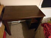 Dark wood ikea desk