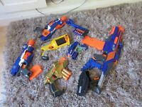 NERF GUNS - x 6 - Elite striker and 5 other nerf guns