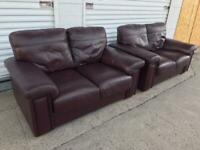 Leather sofas fantastic quality & condition can deliver local 🚛👍🏻😁