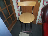 chrome and beech tall bar stool good condition south belfast no longer needed