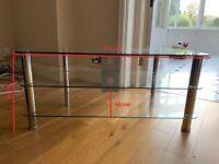 Glass TV stand and corner stand