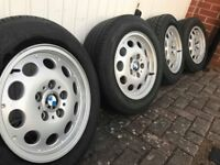 BMW Z3 - SET OF 4 BMW STYLING 36 ALLOY WHEELS WITH TYRES 5X120 15 INCH