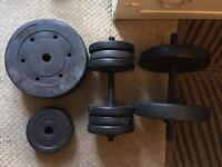 2 dumbbells with (35 kg) weight