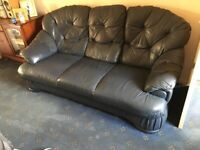 3 seater leather suite