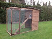 New Cat House & Run/Chicken Coop & Run
