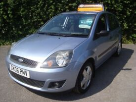FORD FIESTA ZETEC 1.25 5 DOOR finished in metallic TONIC BLUE