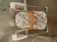 Graco 2 speed swinging baby chair