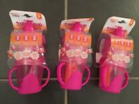 Baby girl / pink sippy cup bundle (NEW)