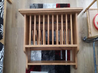 Plate rack - solid oak