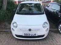 2013 FIAT 500 POP - 3 DOORS - MANUAL - WHITE - £30 A YEAR ROAD TAX