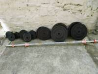 Used cast iron weights