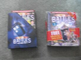 DR WHO MAGAZINES, BATTLES IN TIME, TARDIS CARD HOLDER £2 THE LOT