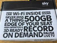 Sky + plus HD box. Perfect condition. With all accessories Wifi. Free broadband hub