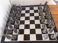 Tudor Mint Pewter Chess Set