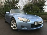 2003 (03) Honda S2000 2.0 Roadster 76,000 MILES 2 OWNERS IMMACULATE FSH JUST SERVICED 4X NEW TYERS
