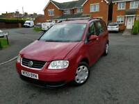 2004 vw touran 1,9 tdi se 7 seater 12 mths mot very clean mpv