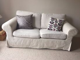 Ikea Ektorp 2 seater sofa. Off white/cream. Used but well kept.