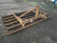 Tractor three point linkage heavy duty land leveller grader reversible
