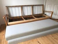 Original 1860's teak sofa bed Guy Rodgers style