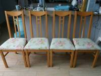BEAUTUFUL SET OF 4 NEWLY UPHOLSTERED DINING CHAIRS