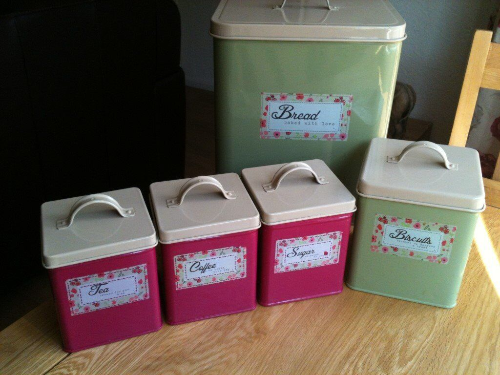 Kitchen Storage Canisters Next Kitchen Storage Canisters Bread Biscuits Tea Coffee Sugar