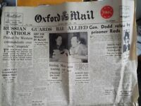 Old copy of the Oxford Mail...RESERVED