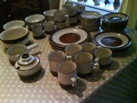 "Denby pottery in ""Potter's Wheel"" design"