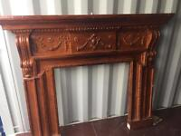 Large resin fireplace ideal for painting or upcycling
