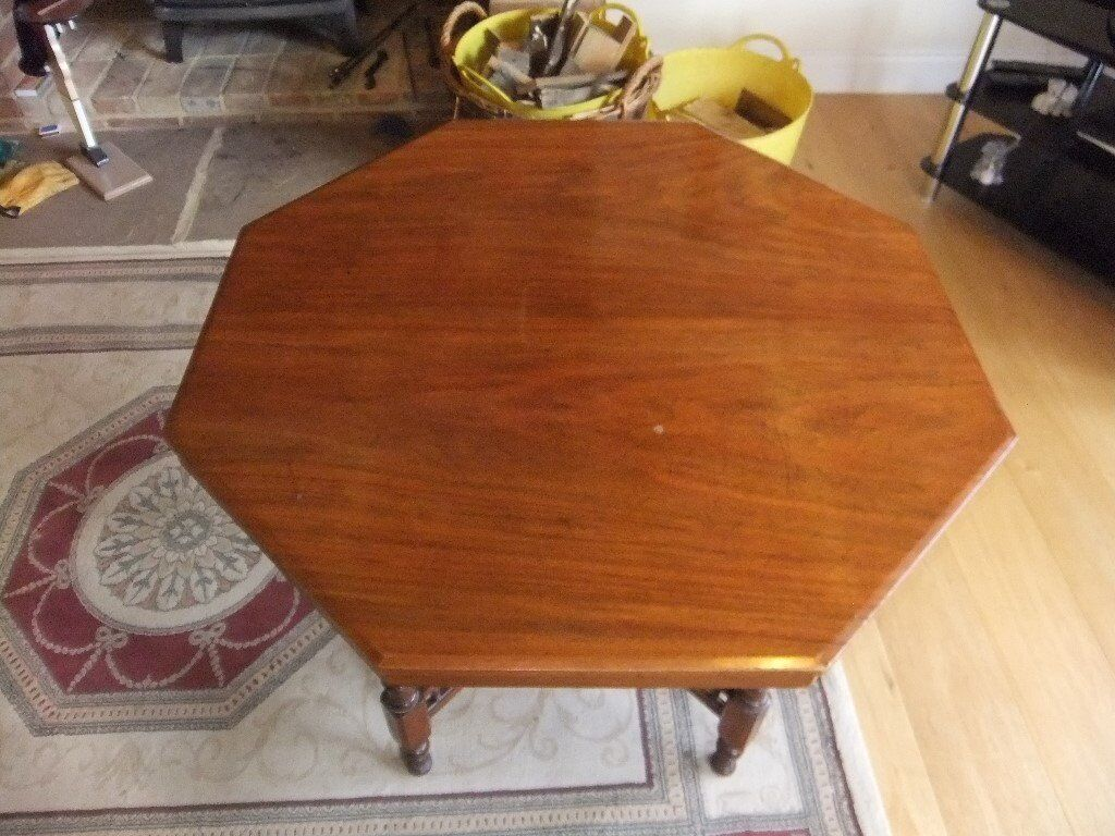 VICTORIAN OCCASIONAL TABLE OCTAGONAL SHAPE MADE OF MAHOGANY IN GOOD CONDITION HAS VARIOUS USES £125