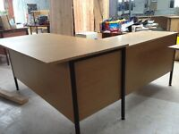 Secretary's Desk L Shaped desk with drawers