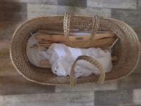 Baby chair swing moses basket bundle