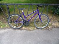 "Ladies Mountain Bike For Sale. Fully Serviced & Ready To Ride. Guaranteed. 18"" Frame. 15 Speed"