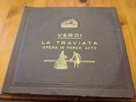 VERDI LA TRAVIATA HIS MASTER'S VOICE 13 78RPM 12 INCH DISCS ENGLISH TEXT