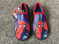 BNWT Children's Spiderman Slippers, Size 7