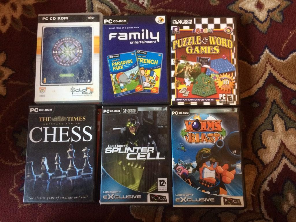 18 PC CD-ROM games Job Lot for £1