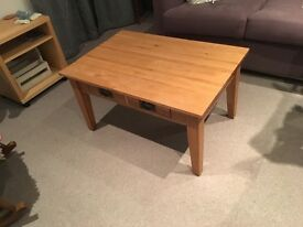 Oak 2 Drawer Coffee Table
