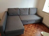 IKEA friheten corner sofa-bed charcoal grey