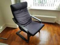 Ikea poang chair black