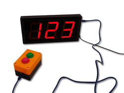 EU LED Display 4 3 Digits Days Seconds  UP/Down Counter Buttons With Remote
