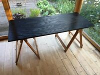 Long Wooden Table with Trestles