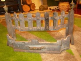 CAST IRON BARS AND ASH PAN FRONT FOR OPEN COAL FIRE