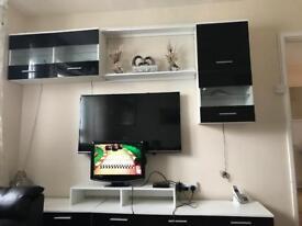 Full tv unit/ cqbinets