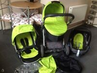 Babystyle Oyster Travel System, Buggy, Carrycot & Maxi Cosi Car Seat