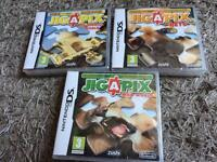 3 sealed JIGAPIX DS games