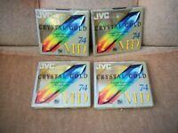 JVC CRYSTAL GOLD 74 MD MINIDISCS - NEW