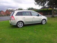 Vauxhall Zafira Design 1.9cdti 2010 0n 60 plate