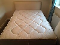 Double bed c/w headboard and ortho matress