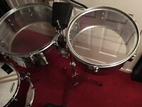 Timbales with cowbell and stand